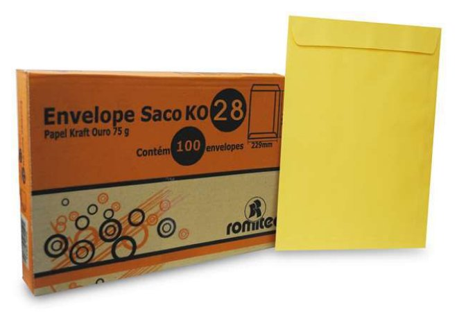 ENVELOPE SACO KR28 200X280MM C/100