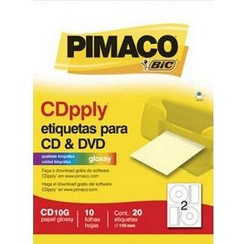 ETIQUETA CD 10FLS 20ETIQ CARTA CD10G GLOSSY