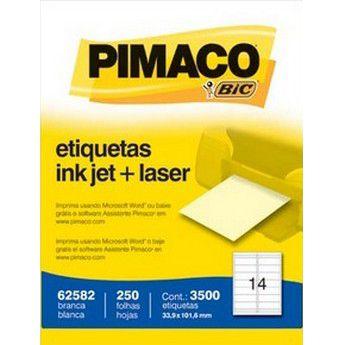 ETIQUETA LASER C/250 33,9X101,6 62582 PIMACO