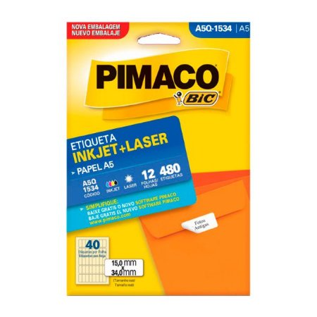 ETIQUETA Q-1534 A5 PIMACO