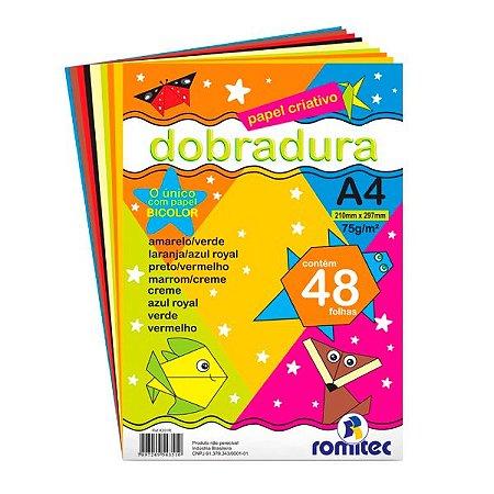 PAPEL CRIATIVO DOBRADURA A4 75G C/48