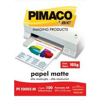 PAPEL PHOTO A4 FOSCO MATTE 105G PI10005M 100F