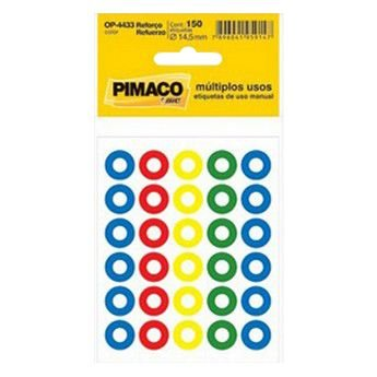 REFORCO ADESIVO P/FURO COLOR PIMACO C/150