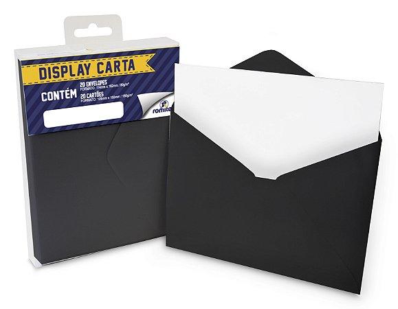 DISP CARTA SIMPLES 20+20 CM PRETO