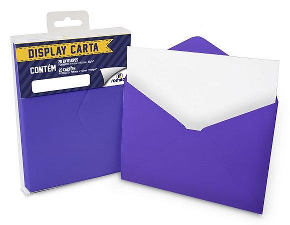 DISP CARTA SIMPLES 20+20 CM ROXO