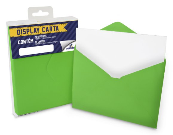 DISP CARTA SIMPLES 20+20 CM VERDE