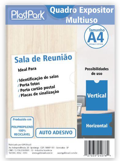 QUADRO EXPOSITOR MULTIUSO A4 EM PP CRISTAL ESP.0,40