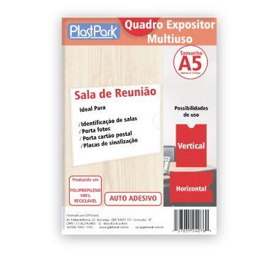 QUADRO EXPOSITOR MULTIUSO A5 EM PP CRISTAL ESP.0,40