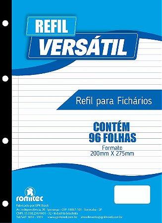 REFIL PARA FICHARIO 96 FLS 200X275MM PCT C/10