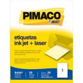 ETIQUETA LASER C/25 288,5X200,0 A4267 PIMACO