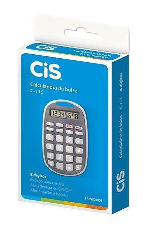 CALCULADORA BOLSO 8DIG CIS C-115 C/CORDÃO