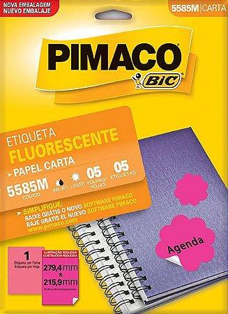 ETIQUETA LASER C/05 279,4X215,9 FLUOR 5585MAGENTA