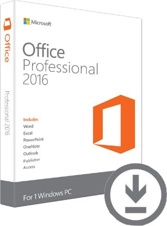 MICROSOFT OFFICE PROFESSIONAL 2016 – 32 / 64 BITS – ESD
