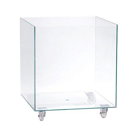 Cachepot de vidro 35X35X35cm