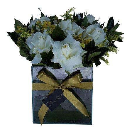 Bouquet Terrier Rosas Brancas