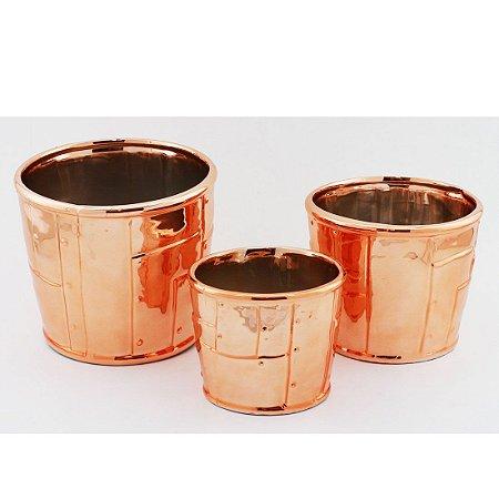 Trio de Cachepots cobre