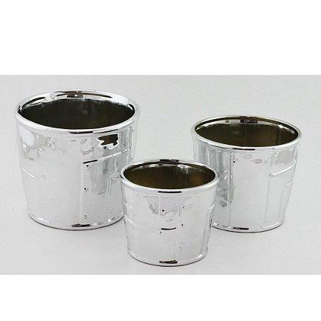 Trio de Cachepots - Prata
