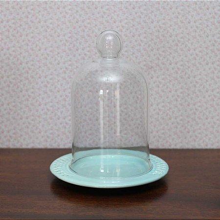 Redoma com base de louça  veneza - azul