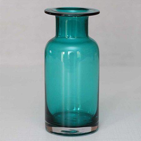 Vaso de Vidro Turquesa