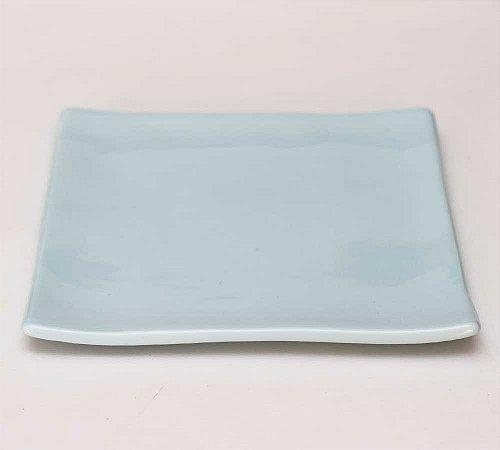 Prato oriental quadrado azul candy