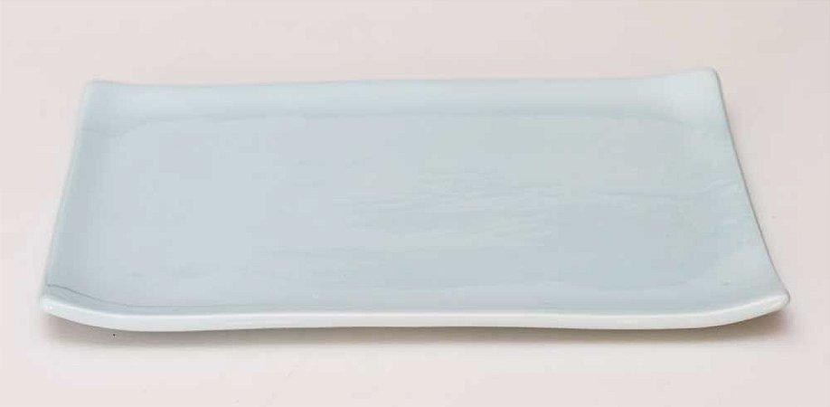 Prato oriental retangular azul candy
