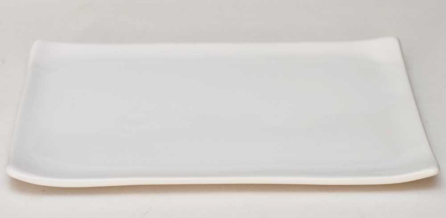 Prato oriental retangular branco