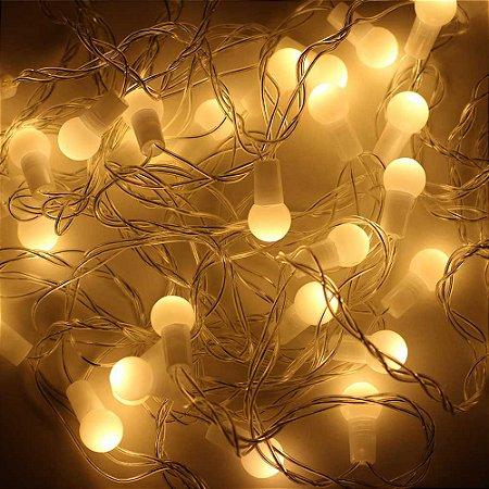 Cordão de Luz LED bolinha branca - 220V