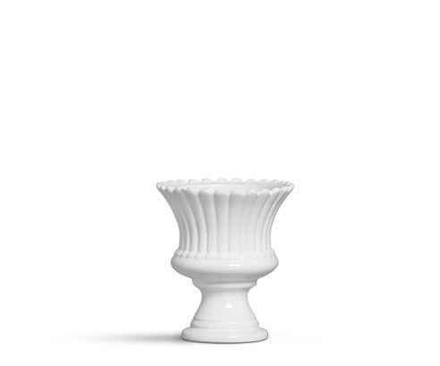 Vaso pequeno branco algodão doce