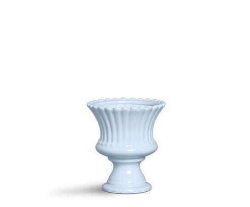 Vaso pequeno azul algodão doce