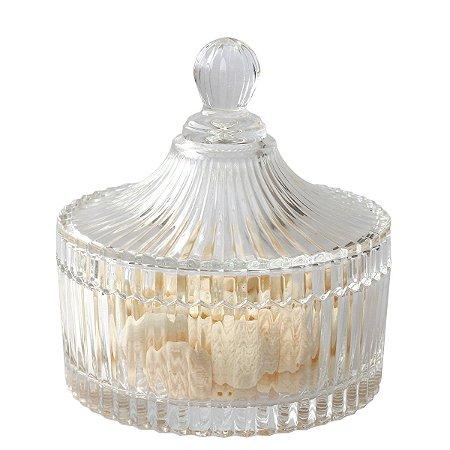 Bomboniere de vidro com tampa (15x16cm)