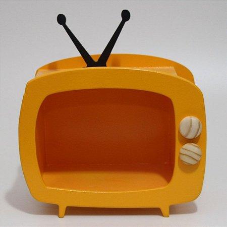 TV em MDF- Laranja