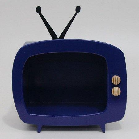 TV em Mdf - Azul escuro BIC