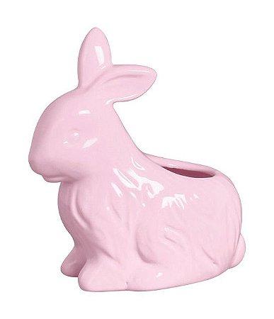 Vaso Coelho Sentado - Rosa algodão doce
