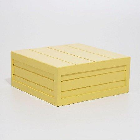 Caixa em MDF - Amarelo Claro