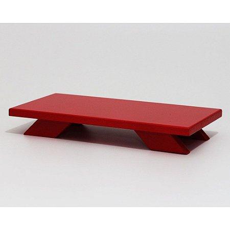Bandeja Baixa em MDF - Vermelho