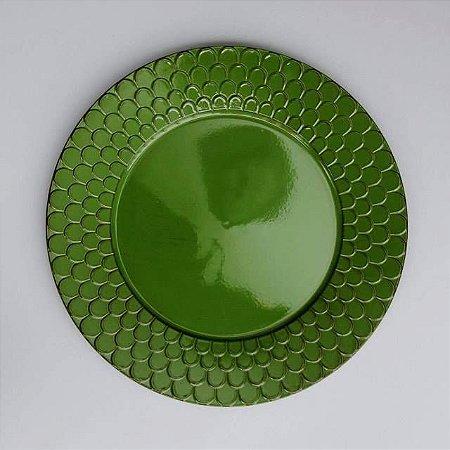 Sousplat Escamas Verde