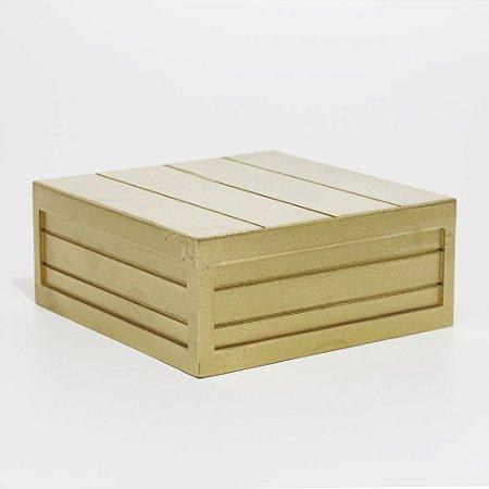 Caixa em MDF - Dourada