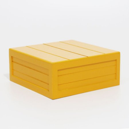 Caixa em MDF - Amarelo escuro