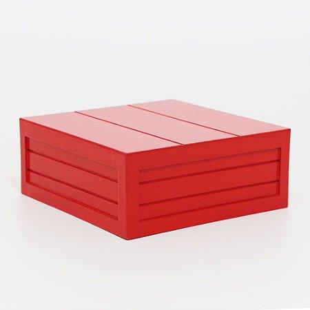 Caixa em MDF - Vermelho