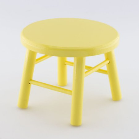 Banquinho de MDF G - Amarelo claro