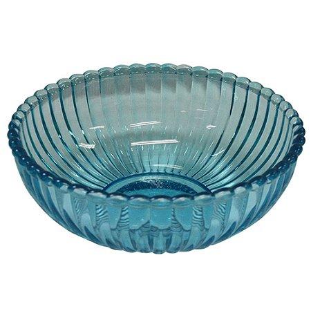 Tigela de vidro - azul
