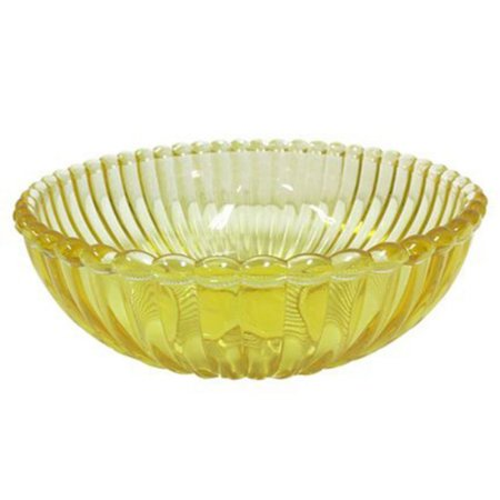 Tigela de vidro - amarela