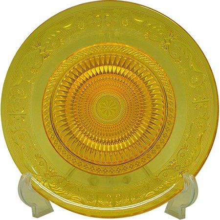 Prato de vidro - amarelo