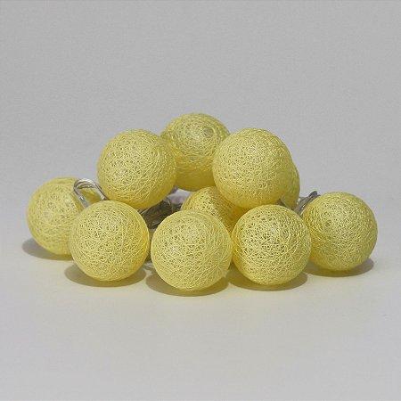 Cordão de Luz Mini Bolinhas - Amarelo (A pilha)