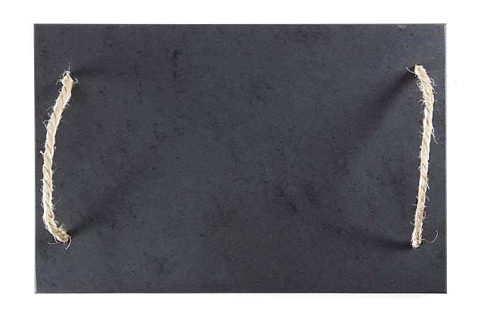Bandeja de Ardósia com Alça em Corda - Acab. Liso (30x45cm)
