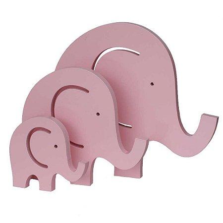Trio de Elefantes - Rosa