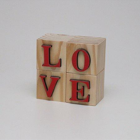 Blocos LOVE - Vermelho