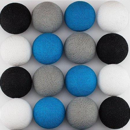 Cordão de Luz LED - Cinza, Azul Céu, Preto e Branco (A pilha)