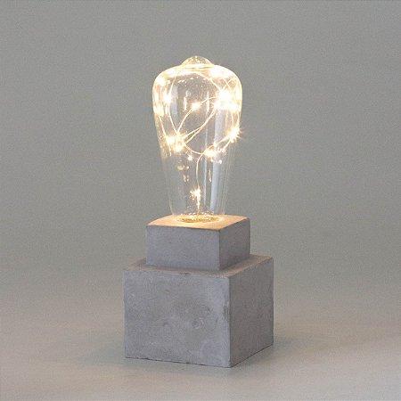 Luminária de Cimento com Led