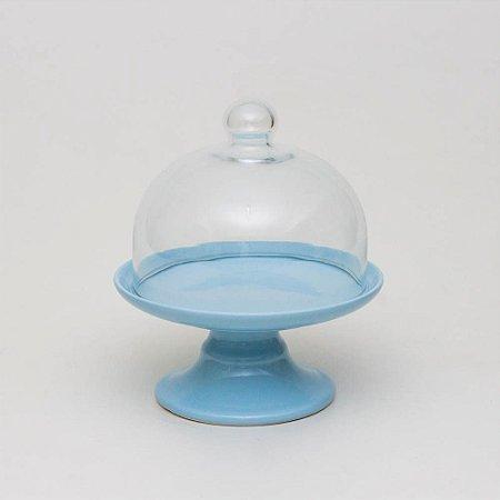 Boleira Candy Azul com Redoma - P